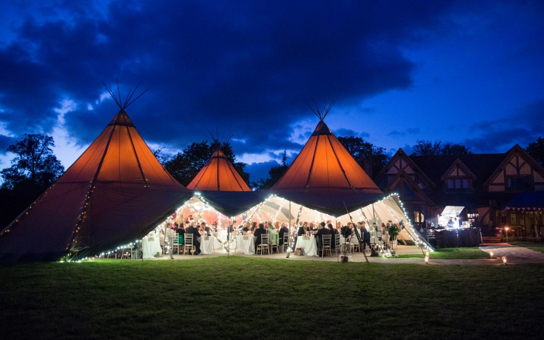 Tipis at night – It's all about the light!