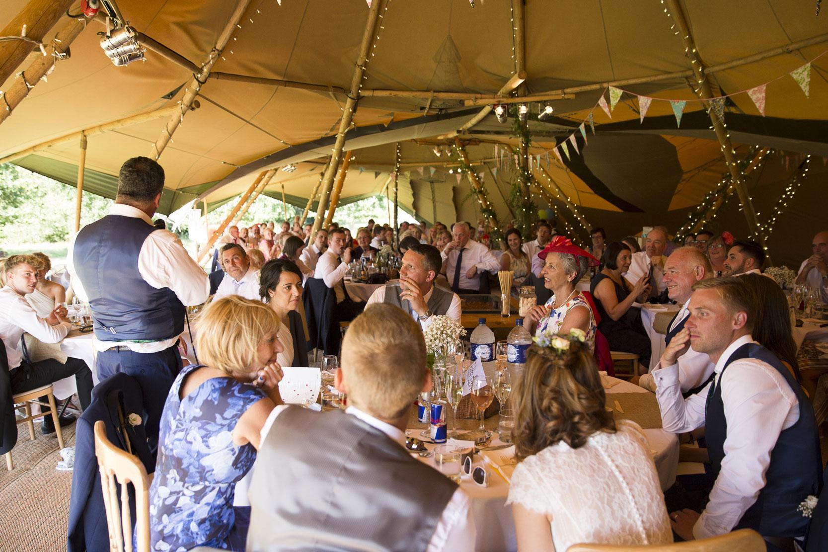 Real Tipi Weddings: Tipi Wedding Maplehurst Farm, West Sussex