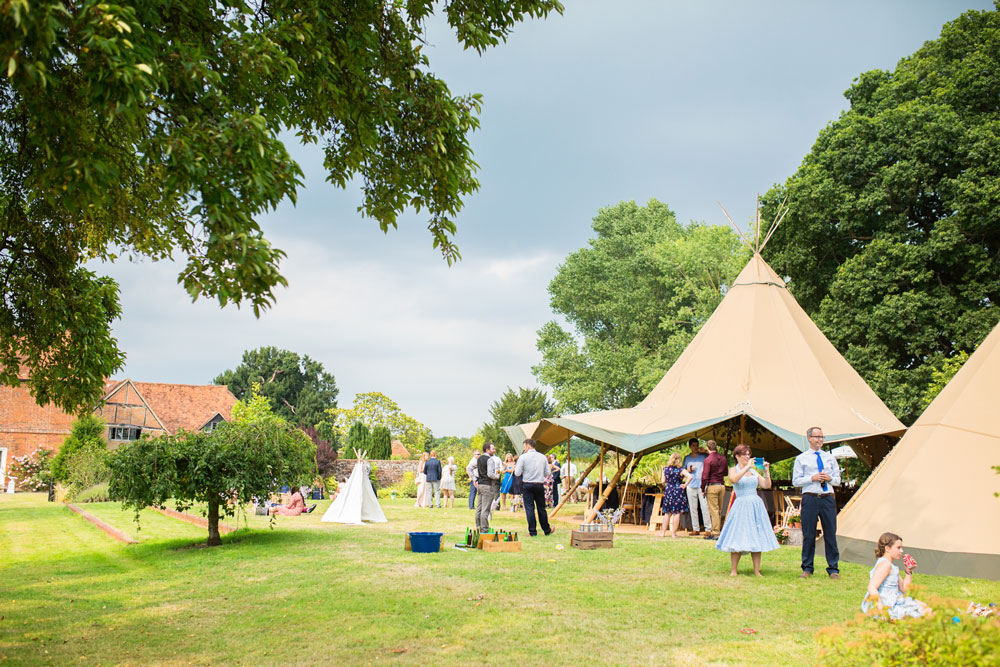 Real Tipi Weddings: Tipi Hire Little Field Manor, Surrey