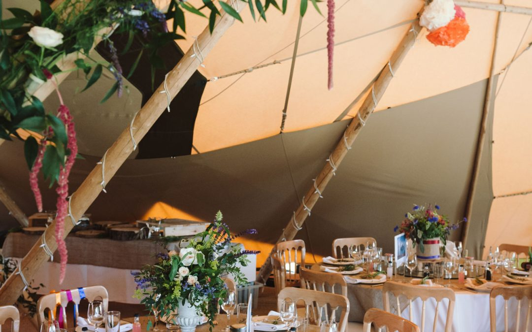 Top Tips To Styling Your Tipi Wedding